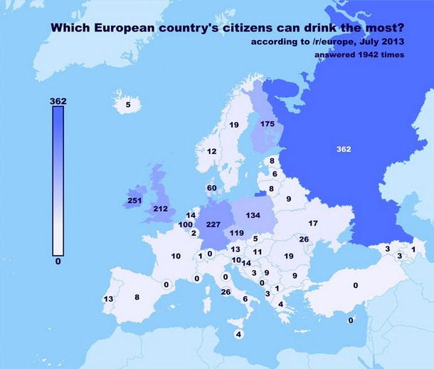 European Citizens Who Drink the Most