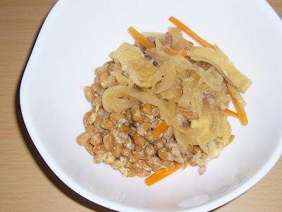 納豆に切干大根の煮物