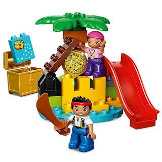 TOYS : JUGUETES - LEGO Duplo  Jake y Los Piratas de Nunca Jamas  Jake and the Never Land Pirates  10604 La Isla del Tesoro | Tresaure Island  Producto Oficial Serie Disney 2015 | Piezas: 25 | Edad: 2-5 años  Comprar Amazon España & buy Amazon USA