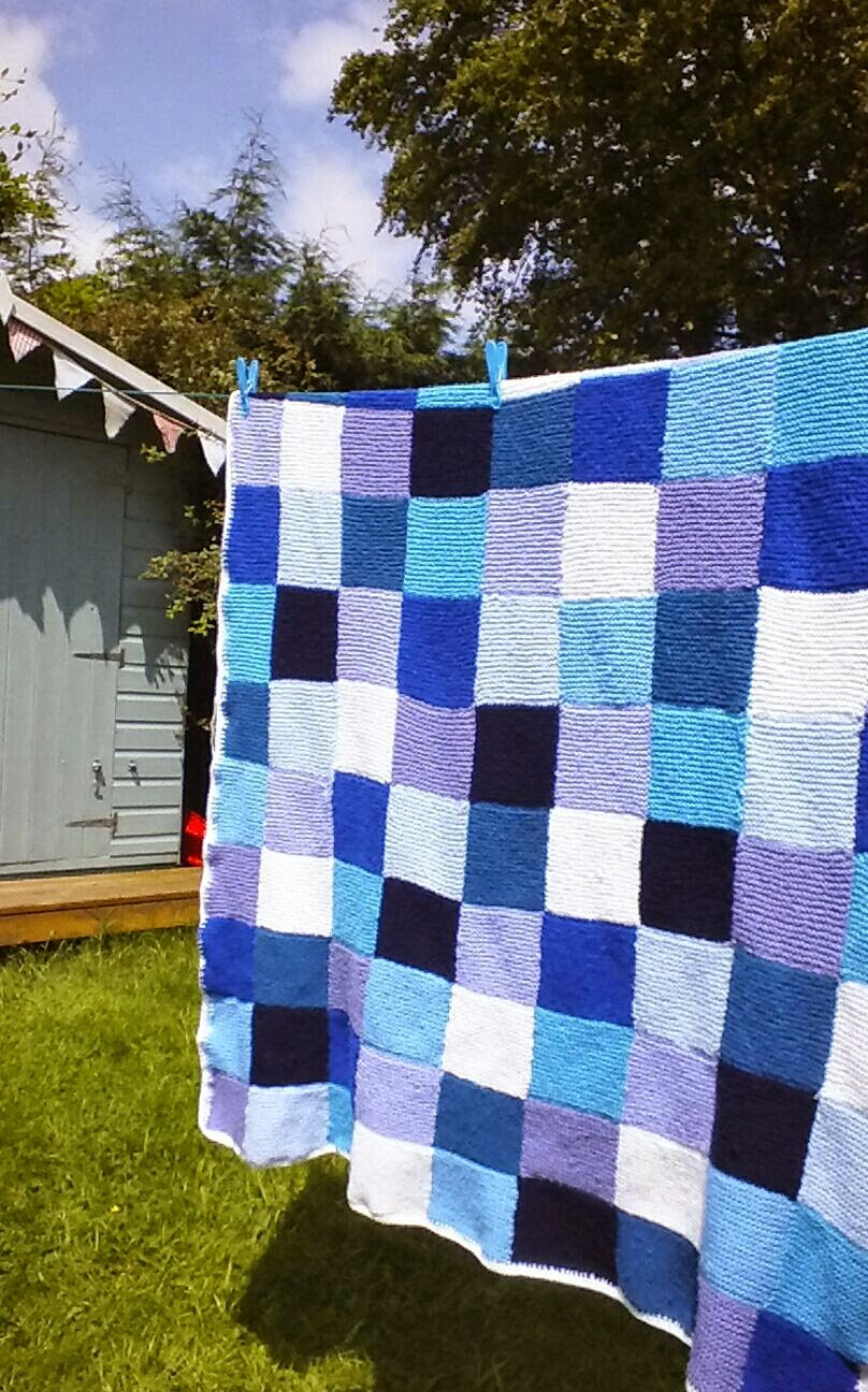 Knitted Patchwork Blanket for my Son