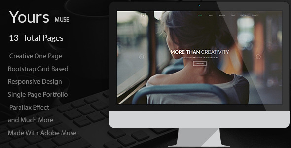 Best One Page Muse Template