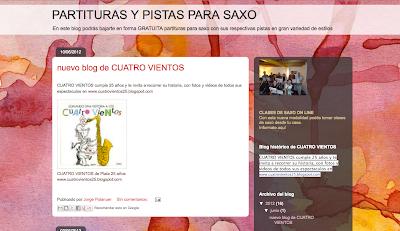 Directorio Musical para agregar tu blog o web PARTITURAS Y PISTAS PARA SAXO  en Directoriopax