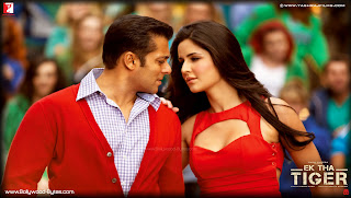  Katrina Kaif and Salman Khan in Red Outfit HD Wallpaper from Ek Tha Tiger
