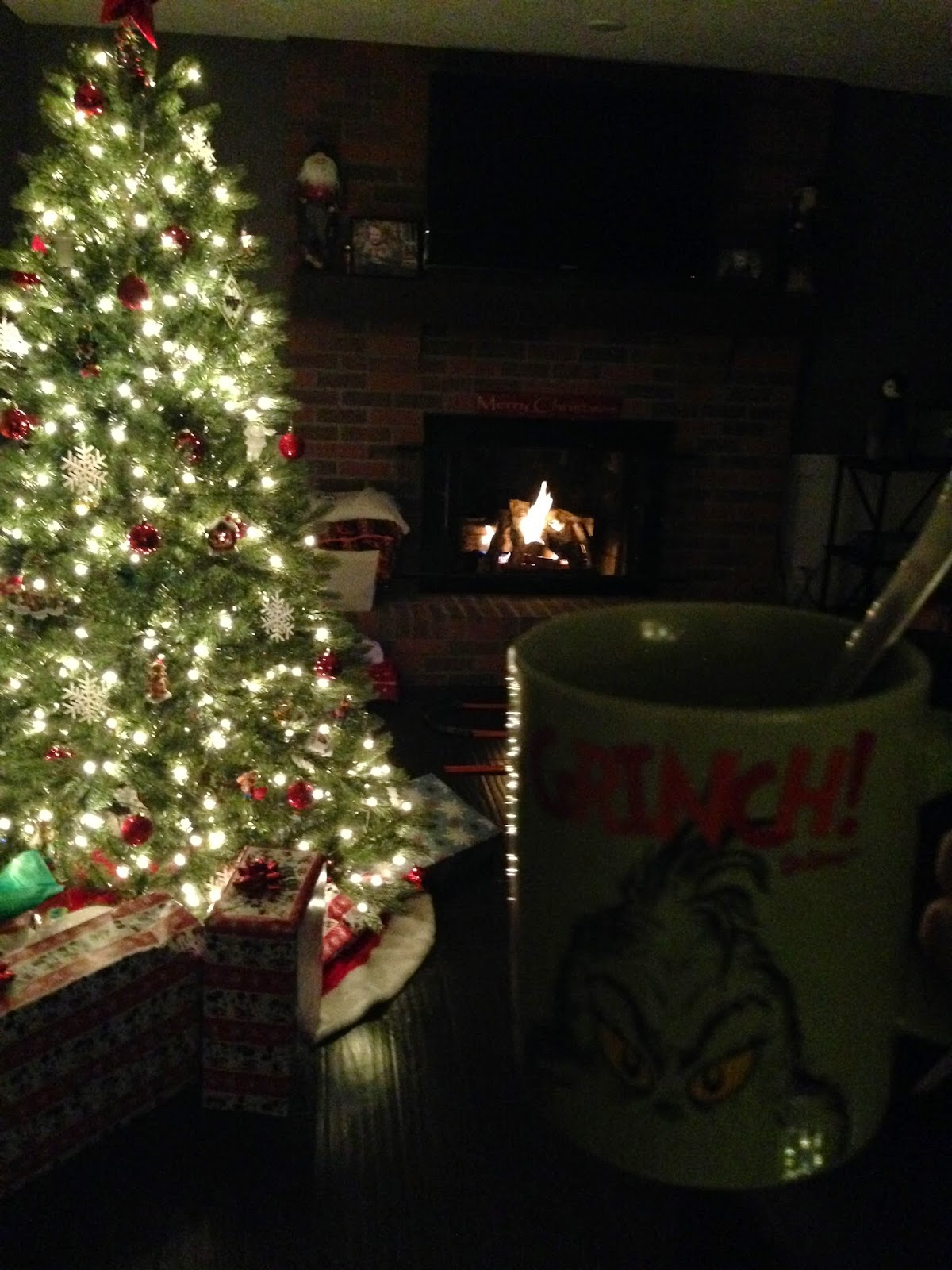 the grinch, coffee, quiet, fire