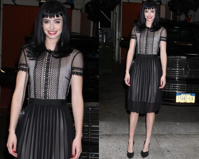 Krysten Ritter Was Spotted Arriving At 'live With Kelly & Michael