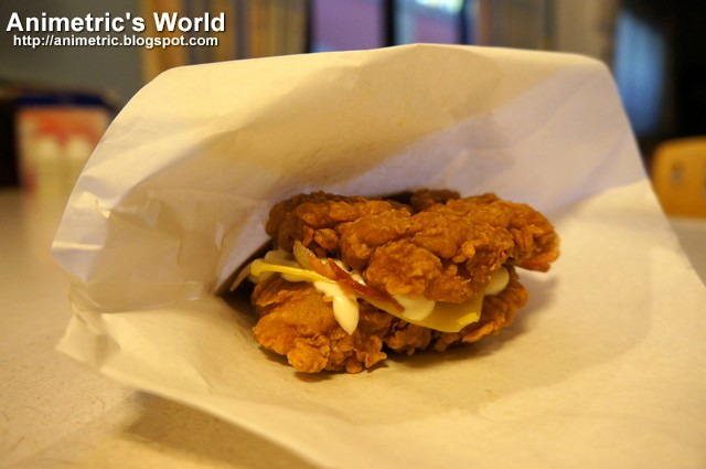 Animetric's World: KFC ZINGER DOUBLE DOWN now available for P120!
