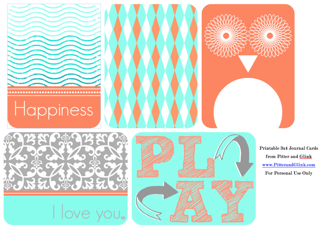 photograph relating to Free Printable Journaling Cards referred to as PitterAndGlink: Cost-free Printable 3x4 Magazine Playing cards