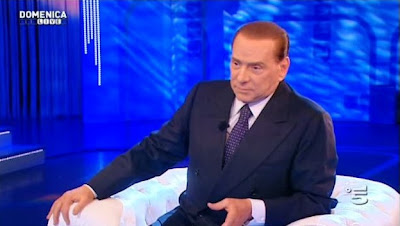 Silvio Berlusconi at Canale5's Domenica Live with Barbara D'Urso