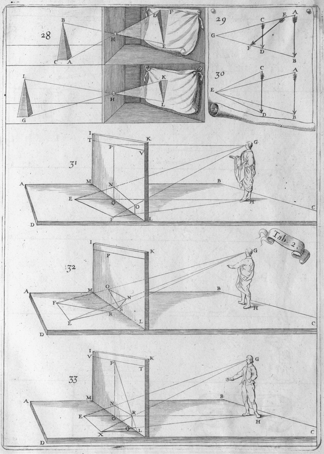 engraved scenes of art perspective geometry