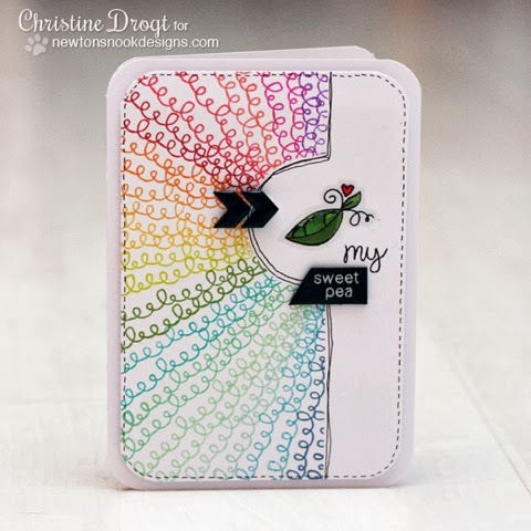 Sweet Pea card by Christine Drogt for Newton's Nook Designs