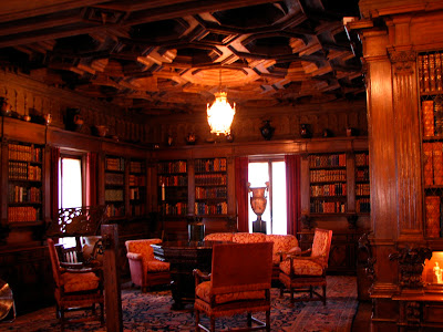 Hearst Castle library, CA: #California www.thebrighterwriter.blogspot.com