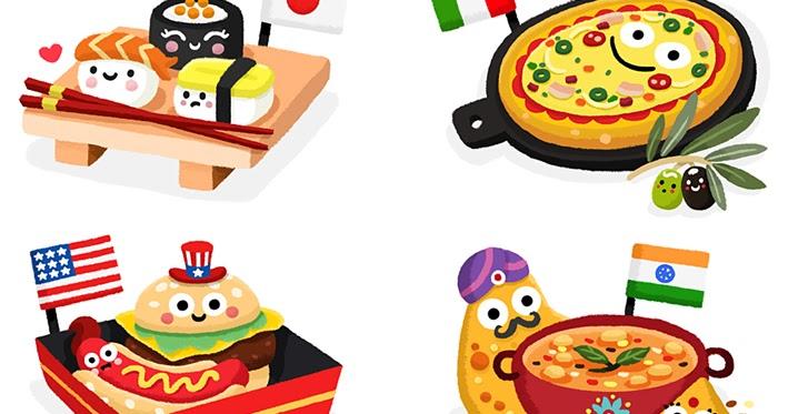Matthew scott illustration food from around the world for Around the world cuisine