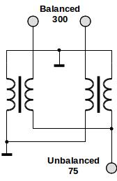 Matching transformer schematic