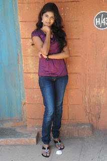 Actress Sunitha Pics in Jeans at Railway Station Movie Pressmeet