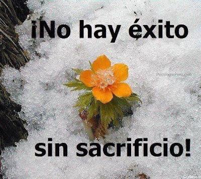 No hay éxito sin sacrificio