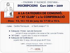 INSCRIPCIONS NOU CURS DE CATEQUESI