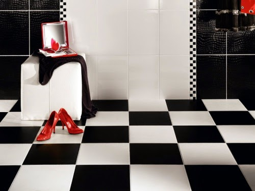 black and white bathroom ideas, designs, wall and floor tiles