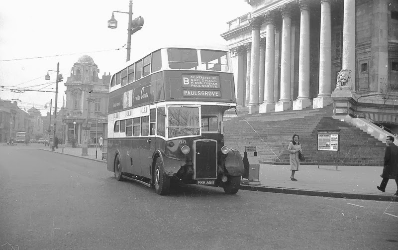 Paulsgrove bus at the Guildhall