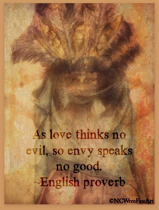 as love thinks no evil, so envy speaks no good, ncwren