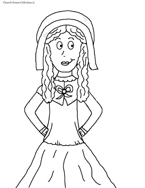 Pilgrim Girl Clipart Picture title=