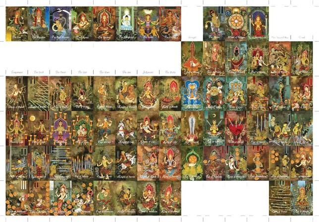 Tarot 4HK Four Heavenly Kings Tarot Thai Siamese ไพ่ทาโรต์ไทย จาตุมหาราช ทาโรต์ ทาโร่ ท้าวโลกบาล ไพ่เดอะซัน The Sun
