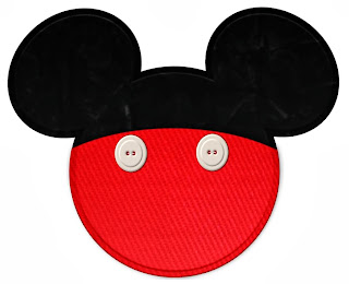 Imprimibles de la silueta de la cabeza de Mickey y Minnie.