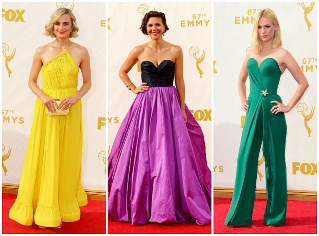 emmys, fashion, colors, trend, taylor schilling, maggie, january jones