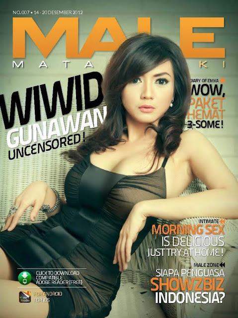 Wiwid Gunawan Cover Majalah Male 01 Foto Artis Payudara Montok Wiwid Gunawan di Majalah Male