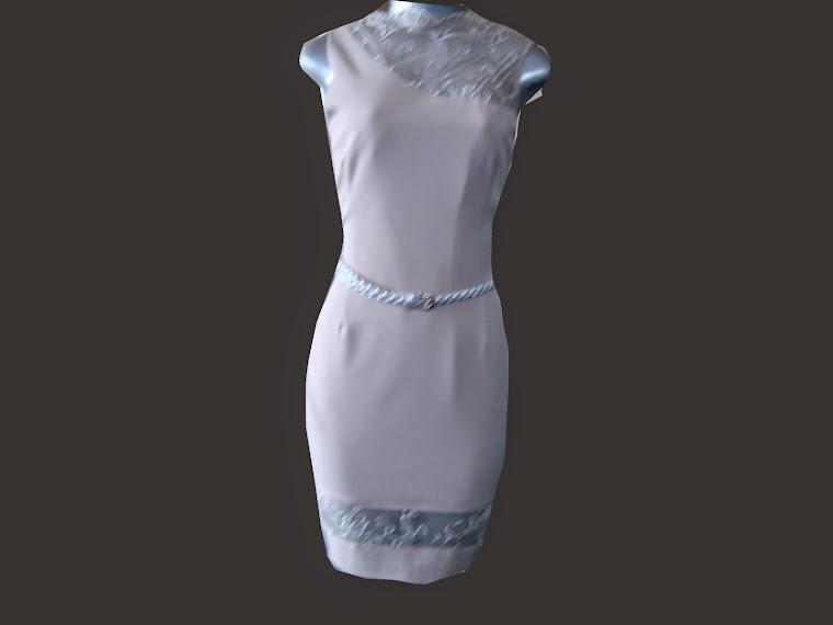 vestido deprada com tule trabalhado