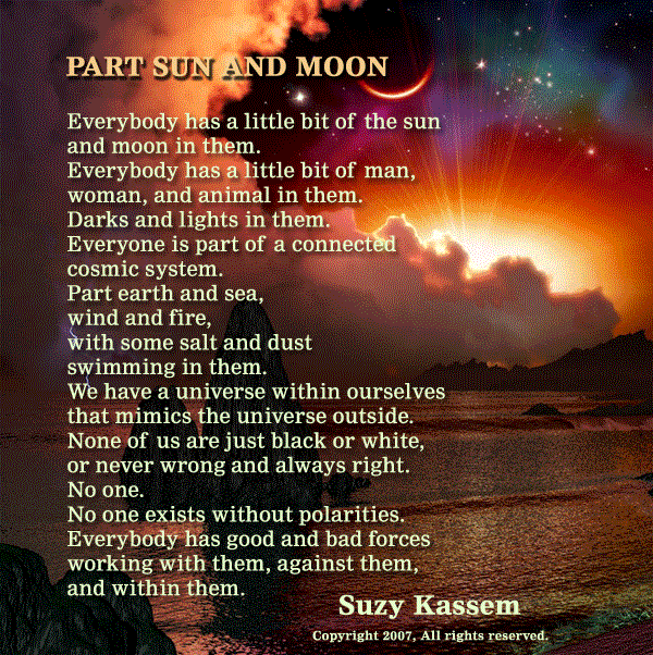 suzy kassem poem Part sun and moon