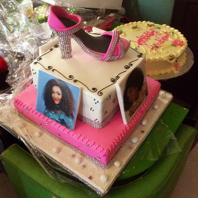 mercy aigbe birthday cakes