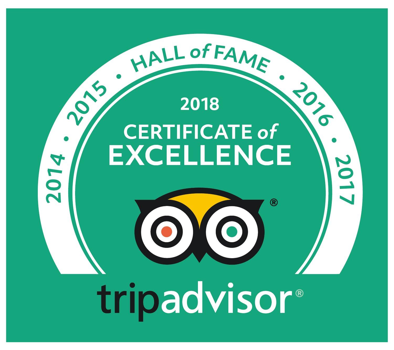 Trip Advisor Hall of Fame