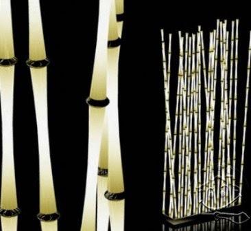 Kerennya Lampu Minimalis, Lampu Taman dari Bambu
