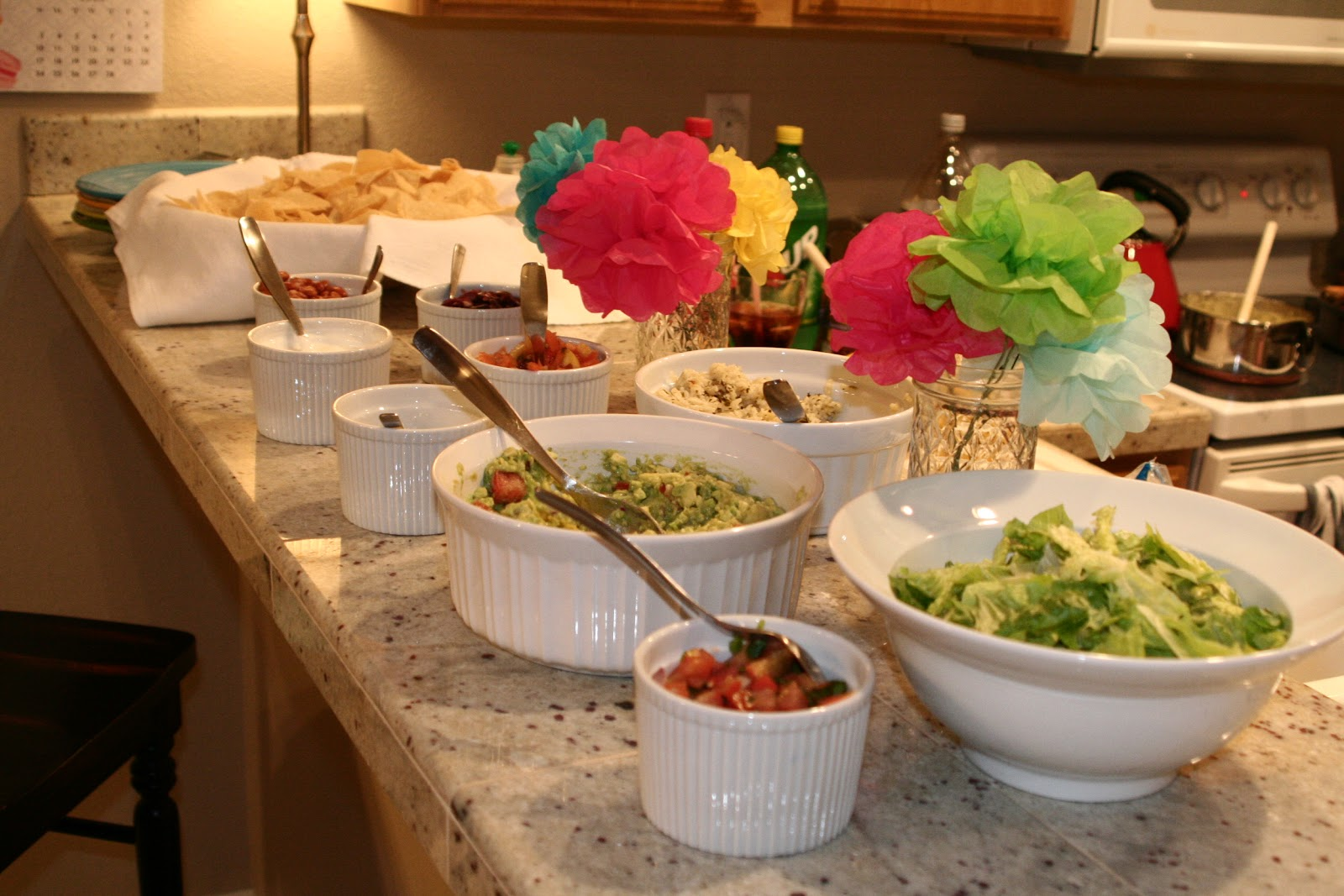We had a little nacho bar with all the fixings.