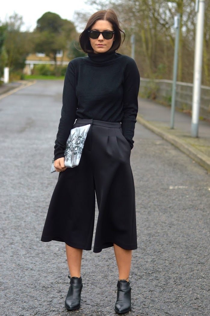Top Uk Fashion Blog Outfits 2014 Culottes Trend