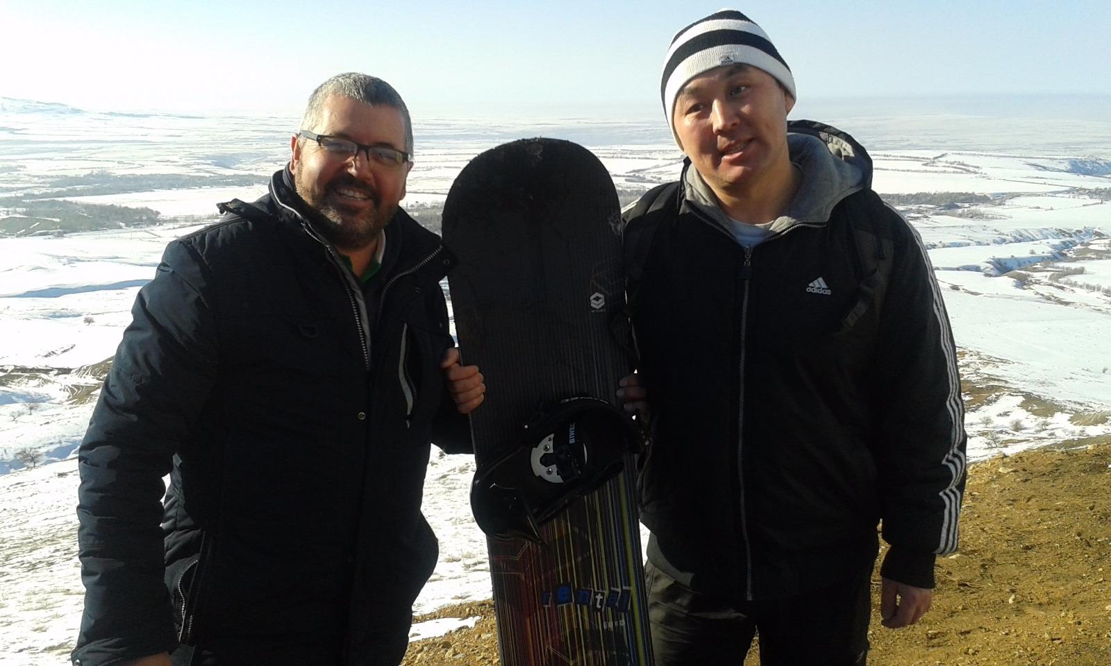 Snowboarding with the best Kazakh Biology Teacher in Kazakhstan