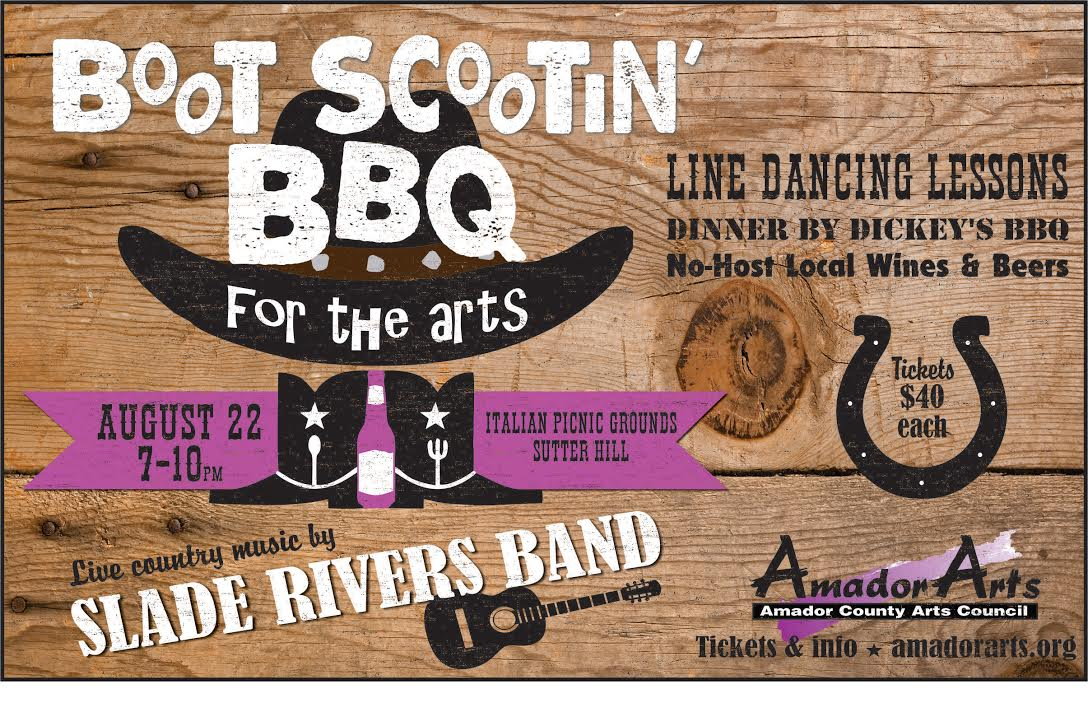 Boot Scootin' BBQ for the Arts - Sat Aug 22
