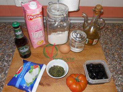 Ingredientes para los Crepe caprese.