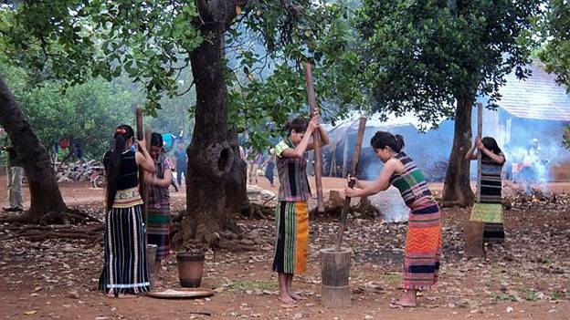 The Sound of the Pestle in Bom Bo Village in Binh Phuoc Province