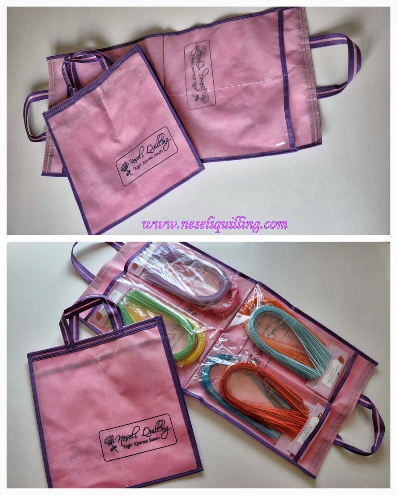 neşeli quilling malzeme çantası