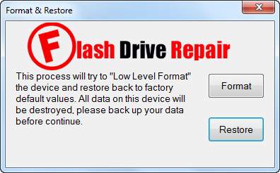 Phison Format Restore v3.12 repair software