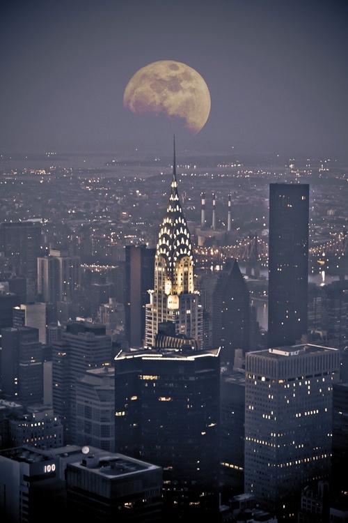 NYC New York City Moon jjbjorkman.blogspot.com