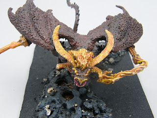 Balrog - Top View of head, horns, wings