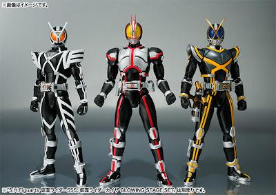 Bandai SH Figuarts Kamen Rider Delta - Kamen Rider Faiz - Kamen Rider Kaixa