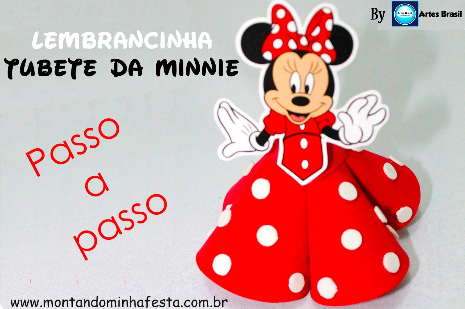 trago para vocês o passo a passo de uma linda lembrancinha da Minnie