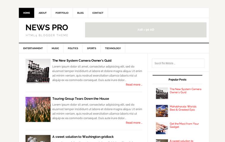 5 Fast Loading SEO Optimised Blogger Templates : New pro