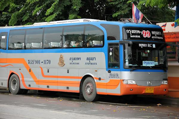Bus desde Bangkok hasta Ayutthaya (Tailandia)