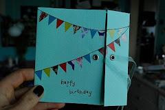 DIY - festligt fødselsdagskort