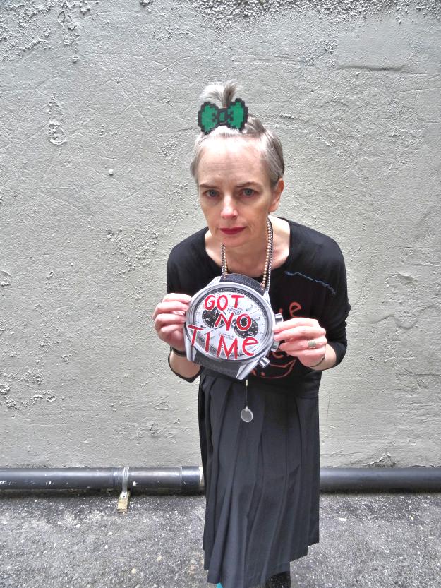 Melanie Kobayashi with DIY watch pendant