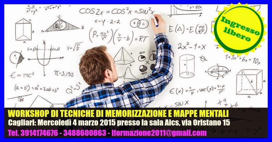 WORKSHOP DI TECNICHE DI MEMORIZZAZIONE E MAPPE MENTALI